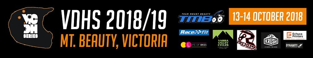 VIC Downhill Series Banner inc Sponsors small