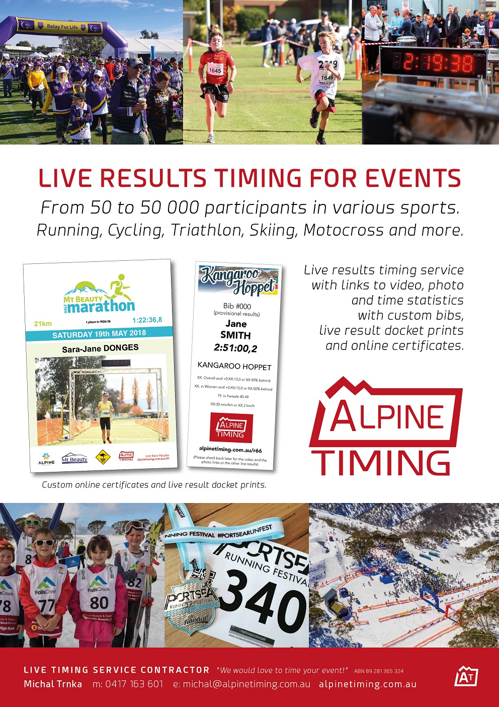Alpine Timing Promo Flyer sm
